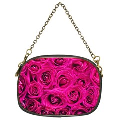 Pink Roses Roses Background Chain Purses (two Sides)