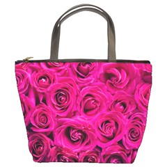 Pink Roses Roses Background Bucket Bags