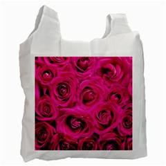Pink Roses Roses Background Recycle Bag (One Side)