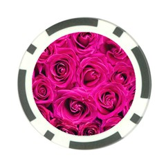 Pink Roses Roses Background Poker Chip Card Guard (10 pack)