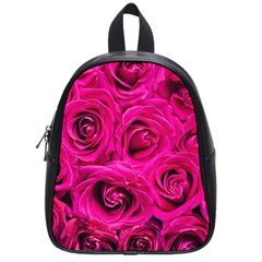 Pink Roses Roses Background School Bags (small)
