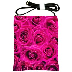 Pink Roses Roses Background Shoulder Sling Bags