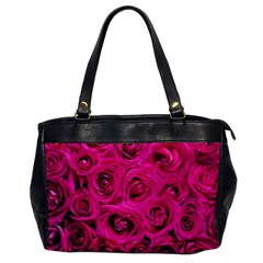 Pink Roses Roses Background Office Handbags