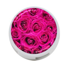 Pink Roses Roses Background 4 Port Usb Hub (two Sides)