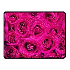 Pink Roses Roses Background Fleece Blanket (small)