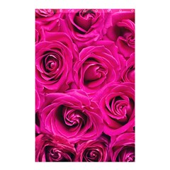 Pink Roses Roses Background Shower Curtain 48  X 72  (small)