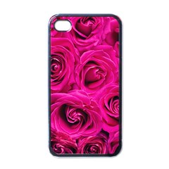 Pink Roses Roses Background Apple iPhone 4 Case (Black)