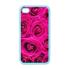 Pink Roses Roses Background Apple iPhone 4 Case (Color)