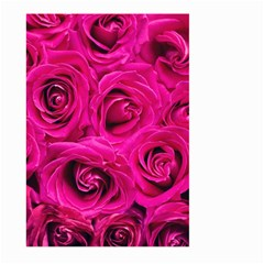 Pink Roses Roses Background Large Garden Flag (two Sides)