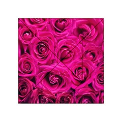 Pink Roses Roses Background Acrylic Tangram Puzzle (4  X 4 )