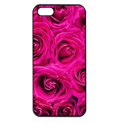 Pink Roses Roses Background Apple iPhone 5 Seamless Case (Black)