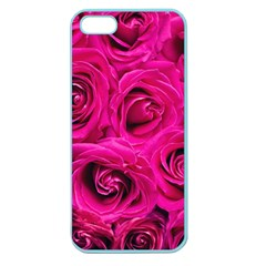 Pink Roses Roses Background Apple Seamless Iphone 5 Case (color)