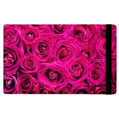 Pink Roses Roses Background Apple iPad 3/4 Flip Case
