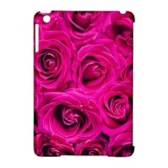 Pink Roses Roses Background Apple Ipad Mini Hardshell Case (compatible With Smart Cover)