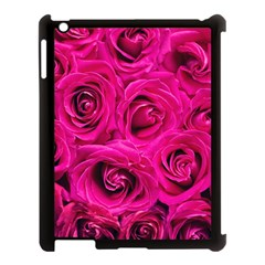 Pink Roses Roses Background Apple iPad 3/4 Case (Black)