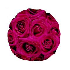 Pink Roses Roses Background Standard 15  Premium Round Cushions
