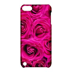 Pink Roses Roses Background Apple iPod Touch 5 Hardshell Case with Stand