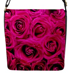Pink Roses Roses Background Flap Messenger Bag (s)