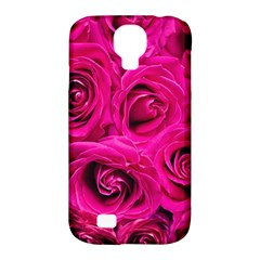 Pink Roses Roses Background Samsung Galaxy S4 Classic Hardshell Case (pc+silicone)