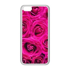 Pink Roses Roses Background Apple iPhone 5C Seamless Case (White)