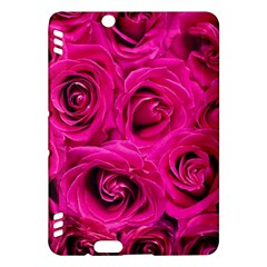 Pink Roses Roses Background Kindle Fire Hdx Hardshell Case