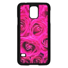 Pink Roses Roses Background Samsung Galaxy S5 Case (Black)