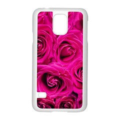 Pink Roses Roses Background Samsung Galaxy S5 Case (white)