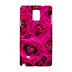 Pink Roses Roses Background Samsung Galaxy Note 4 Hardshell Case