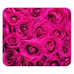 Pink Roses Roses Background Double Sided Flano Blanket (small)