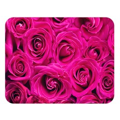Pink Roses Roses Background Double Sided Flano Blanket (large)