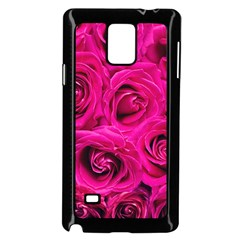 Pink Roses Roses Background Samsung Galaxy Note 4 Case (Black)