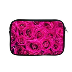 Pink Roses Roses Background Apple Macbook Pro 13  Zipper Case