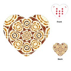 Brown And Tan Abstract Playing Cards (heart)