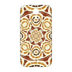 Brown And Tan Abstract Samsung Galaxy S4 I9500/I9505  Hardshell Back Case