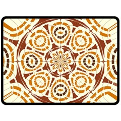Brown And Tan Abstract Double Sided Fleece Blanket (Large)