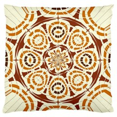 Brown And Tan Abstract Large Flano Cushion Case (One Side)