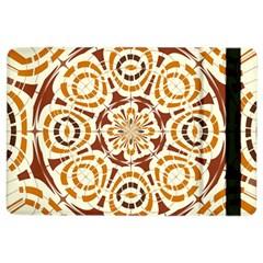 Brown And Tan Abstract iPad Air 2 Flip