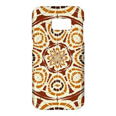Brown And Tan Abstract Samsung Galaxy S7 Hardshell Case