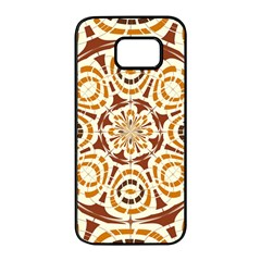 Brown And Tan Abstract Samsung Galaxy S7 Edge Black Seamless Case