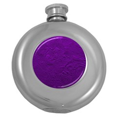 Texture Background Backgrounds Round Hip Flask (5 Oz)