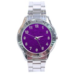 Texture Background Backgrounds Stainless Steel Analogue Watch