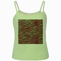 Leaves Pink Background Texture Green Spaghetti Tank