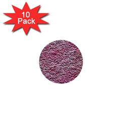 Leaves Pink Background Texture 1  Mini Buttons (10 Pack)