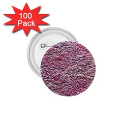 Leaves Pink Background Texture 1.75  Buttons (100 pack)