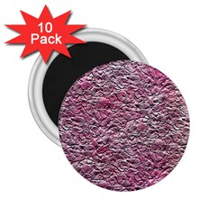 Leaves Pink Background Texture 2.25  Magnets (10 pack)