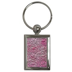 Leaves Pink Background Texture Key Chains (rectangle)