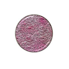 Leaves Pink Background Texture Hat Clip Ball Marker (4 Pack)