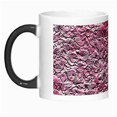 Leaves Pink Background Texture Morph Mugs