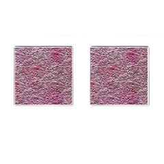 Leaves Pink Background Texture Cufflinks (Square)