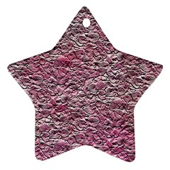 Leaves Pink Background Texture Star Ornament (two Sides)